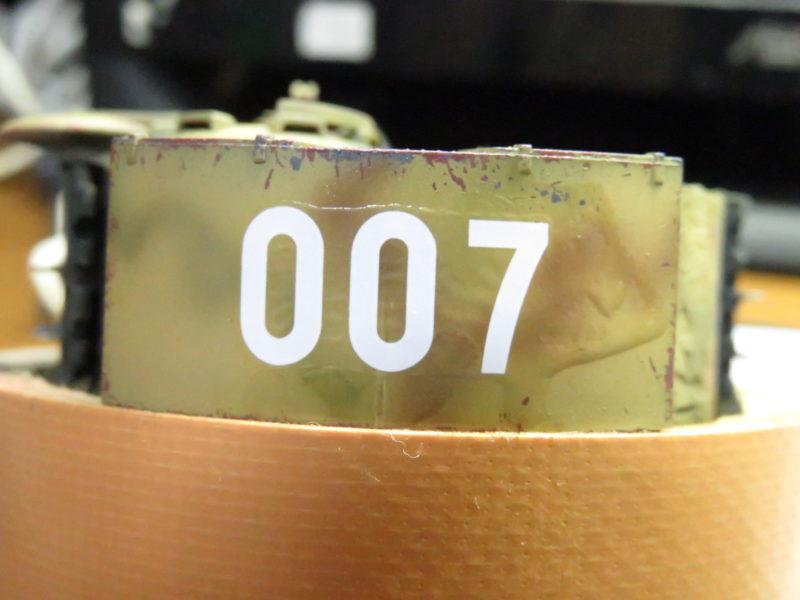 ティーガーI デカール貼り 砲塔後部のデカール2