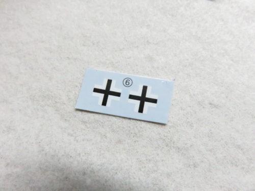 ティーガーI デカール貼り 国籍マーク