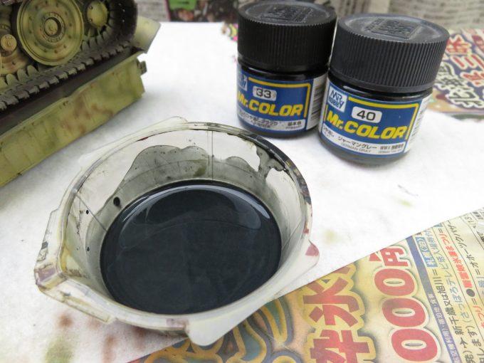 ティーガーI 履帯の塗装