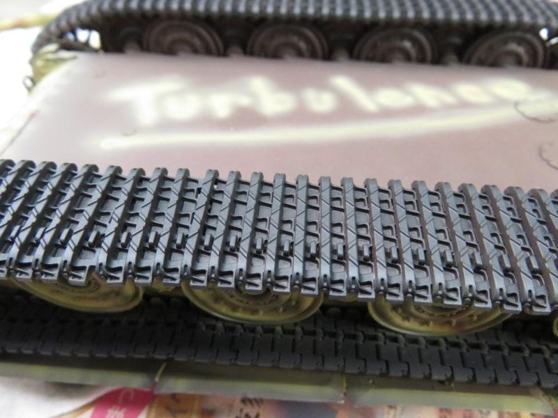 ティーガーI 履帯の塗装2