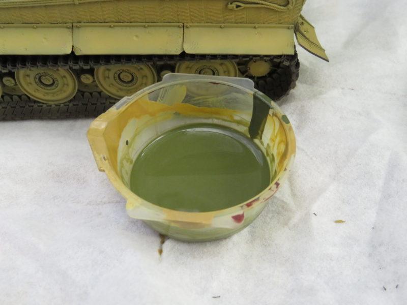 ティーガーI 迷彩塗装 ダークグリーン