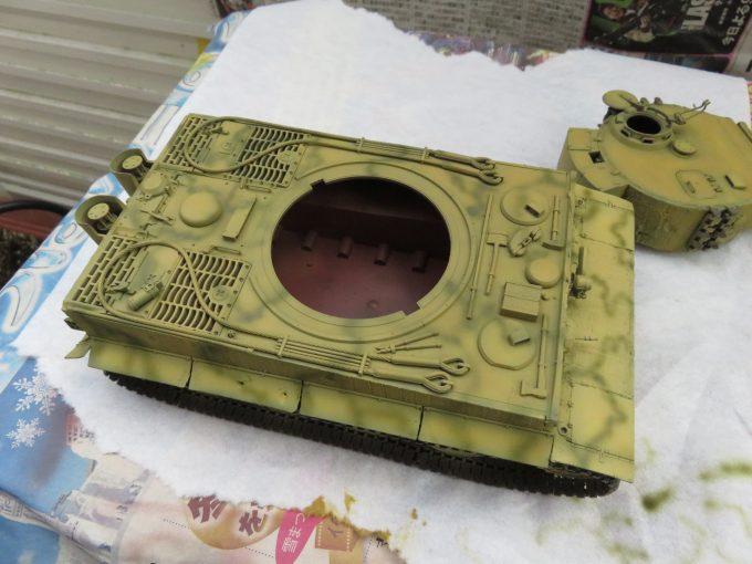 ティーガーI 迷彩塗装 ダークグリーン4