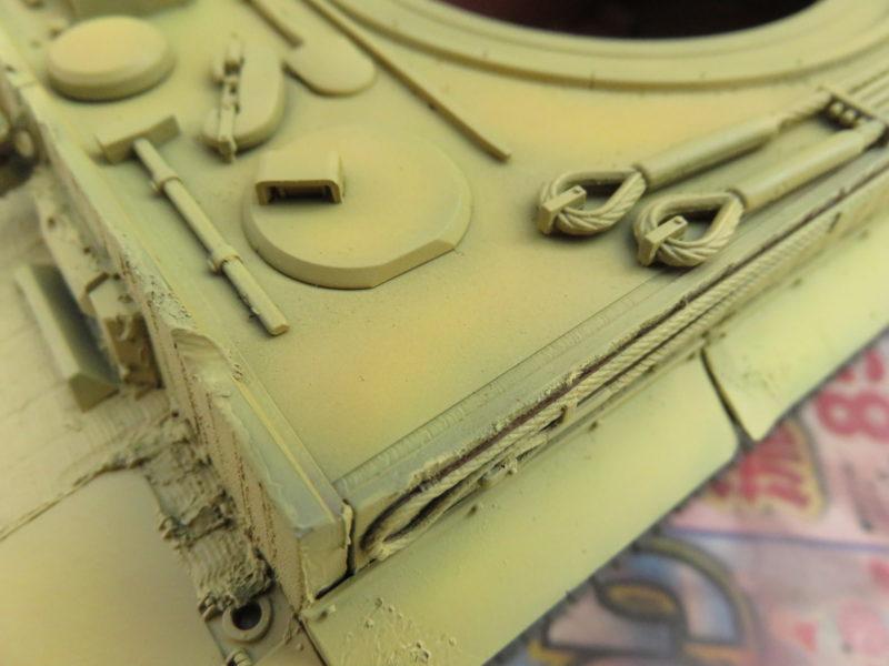 ティーガーI 車体塗装 ダークイエロー2