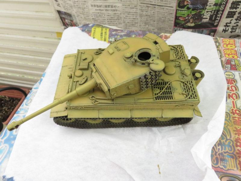 ティーガーI 車体塗装 ダークイエロー3