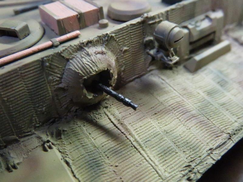 ティーガーI 車載機銃の塗装 通信手席の機銃