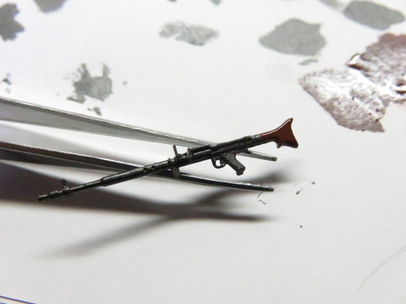 ティーガーI 車載機銃の塗装 キューポラの対空機銃3