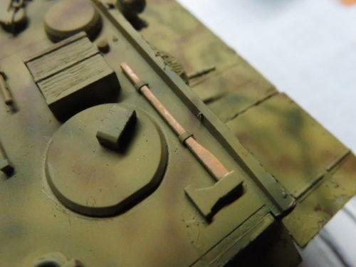 ティーガーI OVMの塗装 斧の柄
