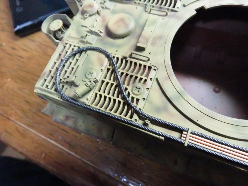 ティーガーI OVMの塗装 牽引ワイヤー