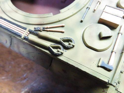 ティーガーI OVMの塗装 牽引ワイヤーの先端