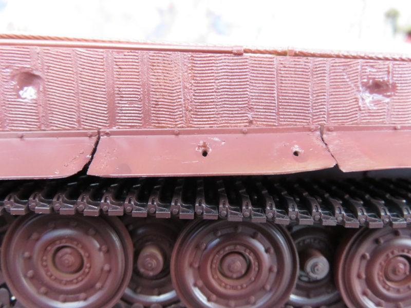 ティーガーI後期型 サーフェイサー塗装 フェンダー