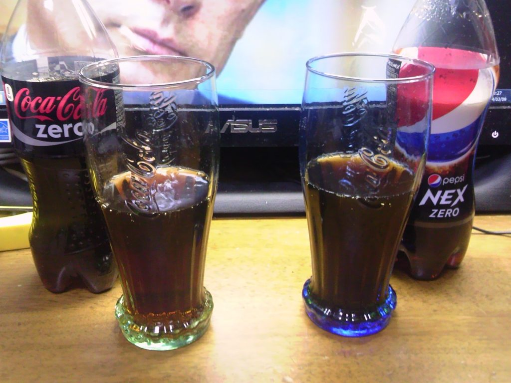ペプシNEXゼロとコカコーラゼロの飲み比べ4
