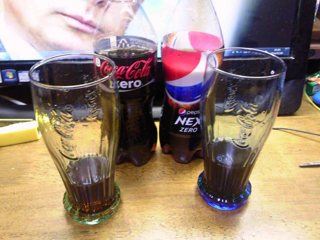 ペプシNEXゼロとコカコーラゼロの飲み比べ6