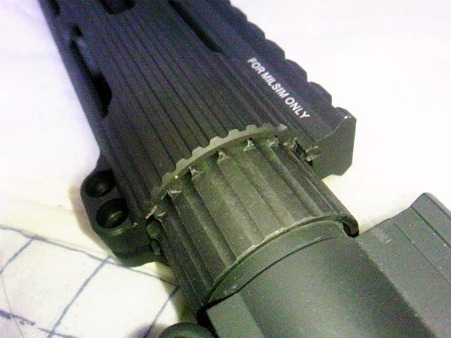 Madbull VTAC Extreme BattleRail13 銃本体へ取り付け5