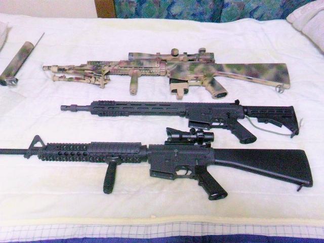 我が家のM16・M4系ライフル