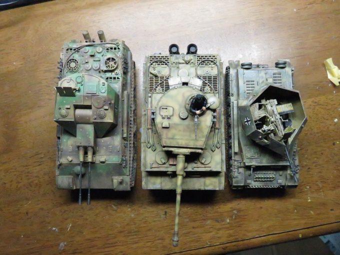 4号、5号、そして6号戦車を並べた図