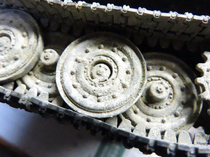 ティーガーI 転輪の泥汚れ