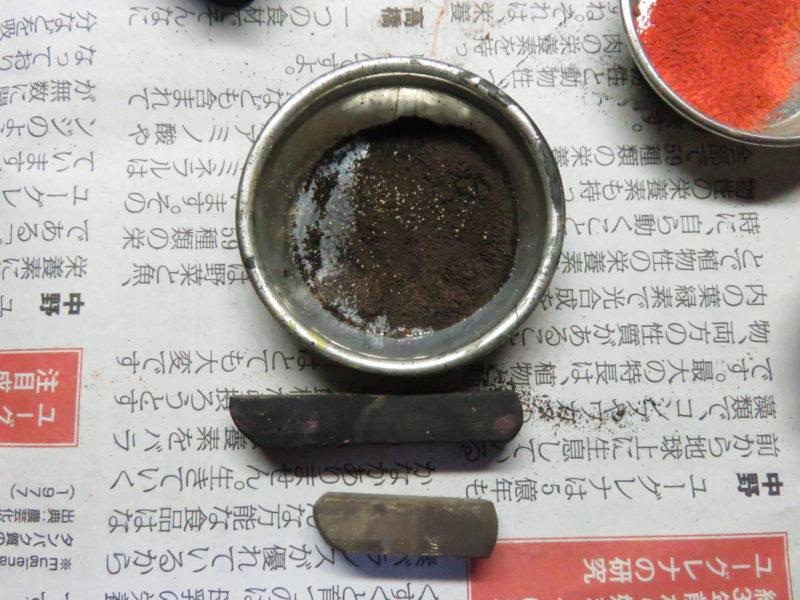 ティーガーI パステルワーク 履帯の泥汚れ