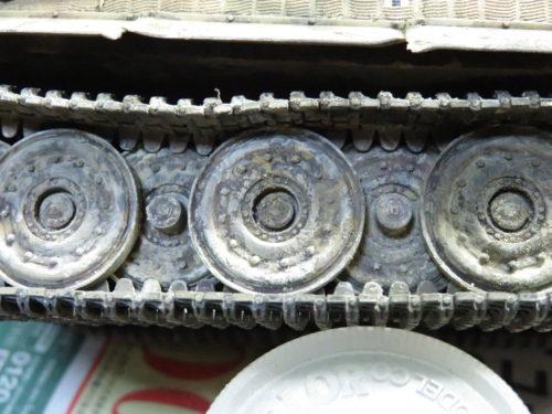 ティーガーI パステルワーク 履帯の泥汚れ6