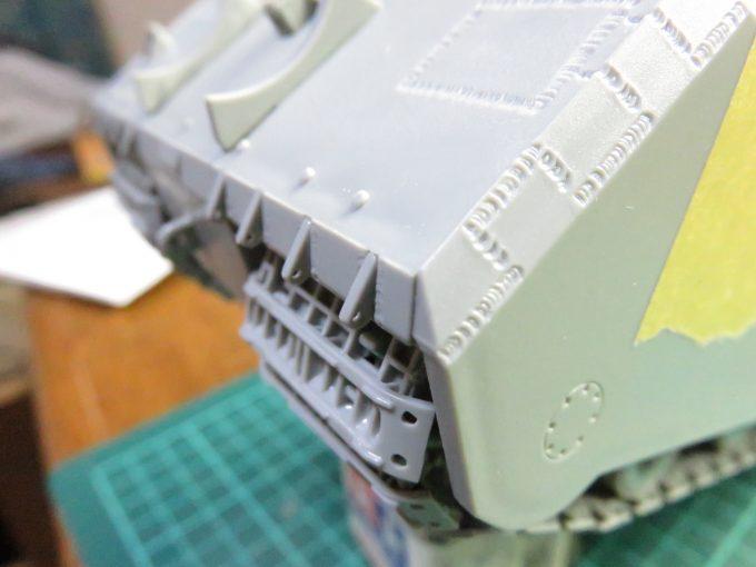 超重戦車マウス 偽装ネット取り付け具2