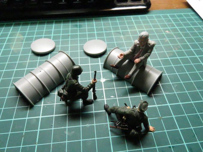 超重戦車マウス 予備燃料タンクの組み立て