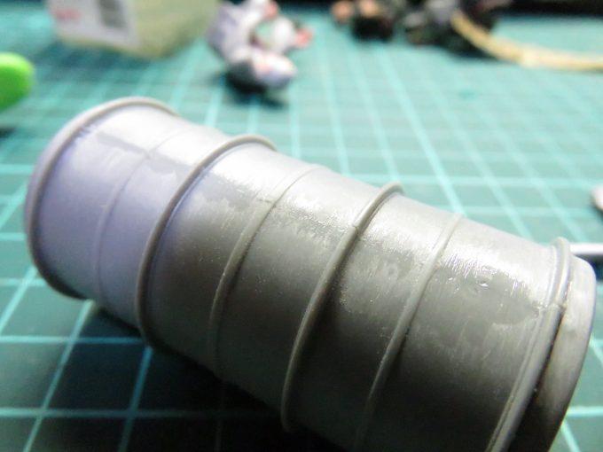 超重戦車マウス 予備燃料タンクの組み立て3