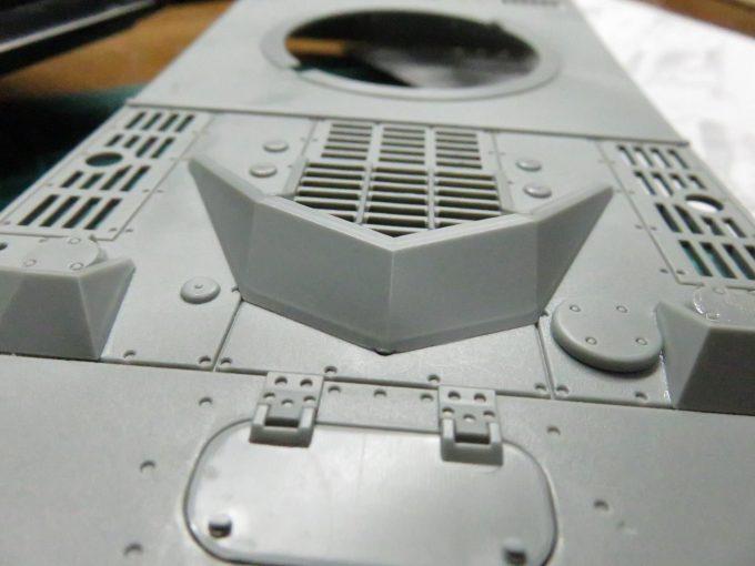 超重戦車マウス 吸気用グリルの跳弾版