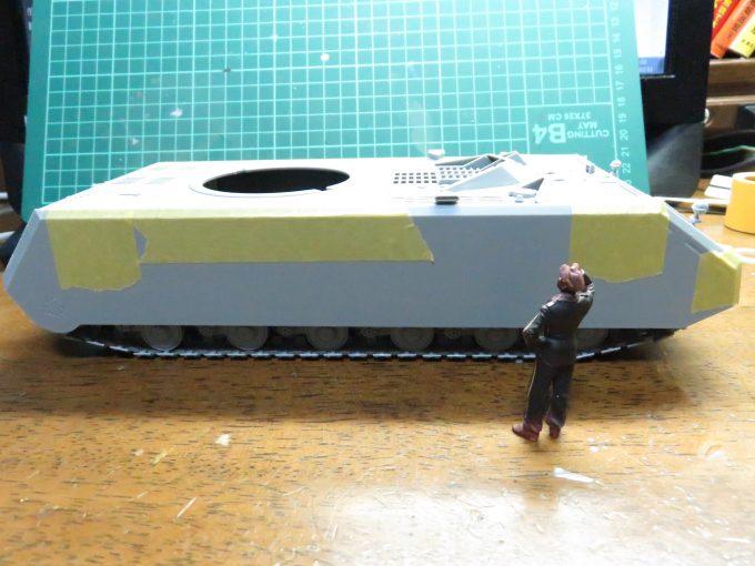 超重戦車マウス 車体の完成(仮)