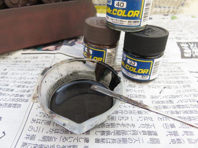 超重戦車マウス 履帯の塗装 使用した塗料