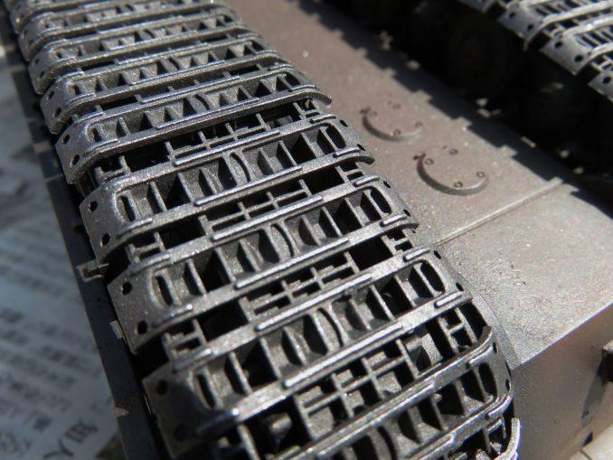 超重戦車マウス 履帯の塗装 シルバー2
