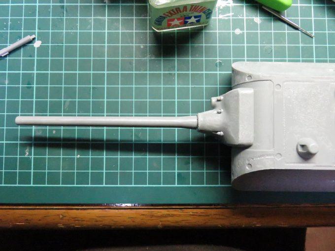 超重戦車マウス 主砲の取り付け