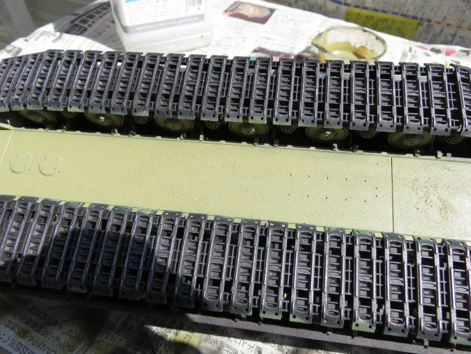 超重戦車マウス ダークイエロー塗装 車体下部の塗装2