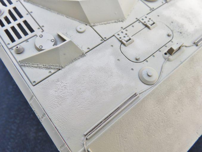超重戦車マウス ダークイエロー塗装 ハイライト部分