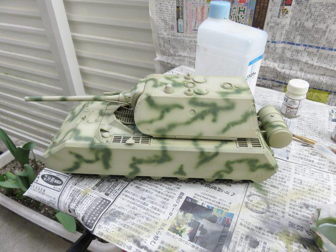 超重戦車マウス オリーブグリーン(ダークグリーン)塗装2