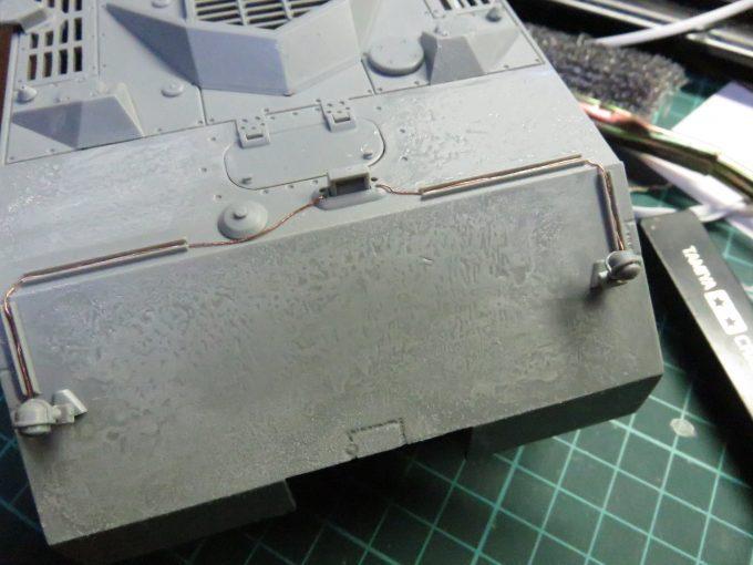 超重戦車マウス 装甲板の荒れ再現 前面装甲板