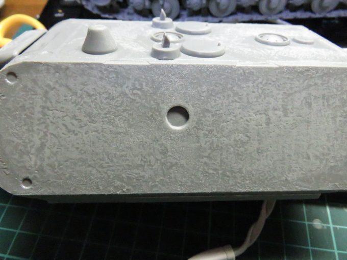 超重戦車マウス 装甲板の荒れ再現 砲塔側面