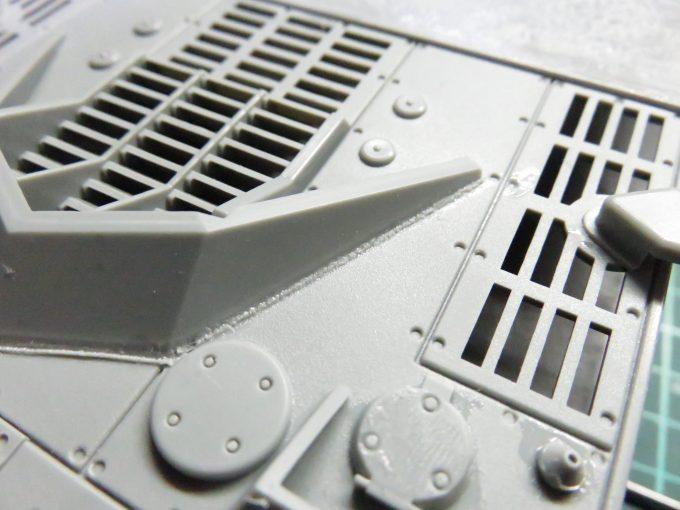 超重戦車マウス 溶接跡の再現 防弾板の溶接跡
