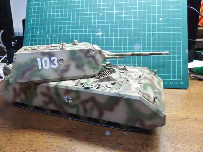 超重戦車マウス デカール貼付け後