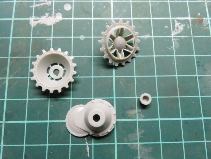 フラックワーゲン 起動輪のパーツ群