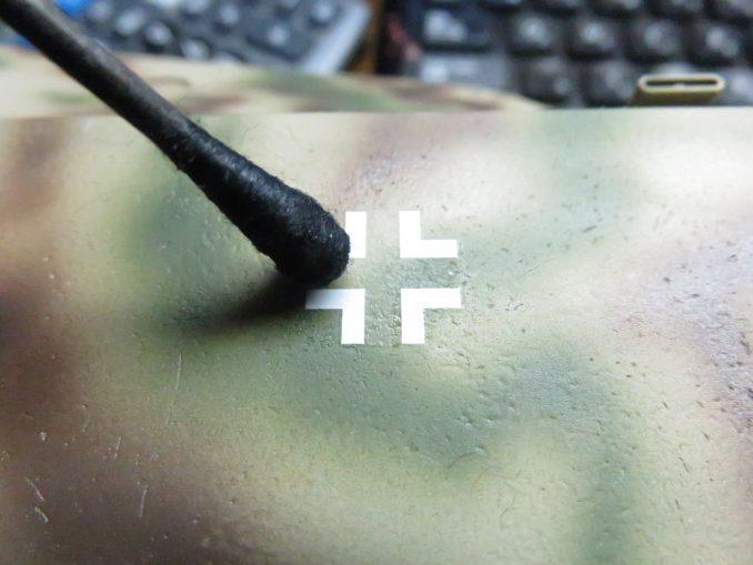 超重戦車マウス 国籍マークのデカール 車体へ貼り付け4