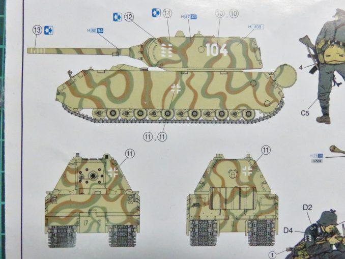 超重戦車マウス デカール貼り付け例