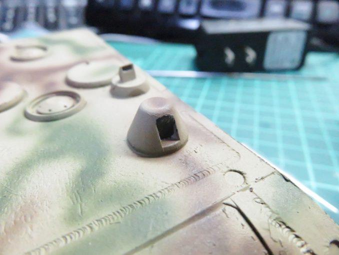 超重戦車マウス ペリスコープの塗装2