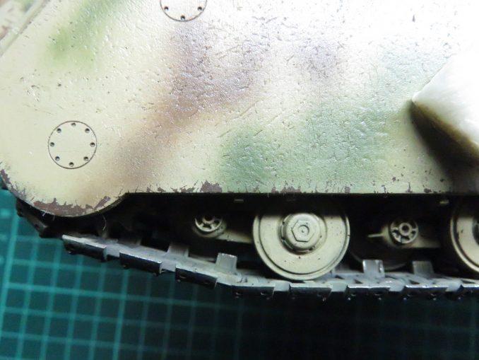 超重戦車マウス ウォッシング 塗装の剥がれ