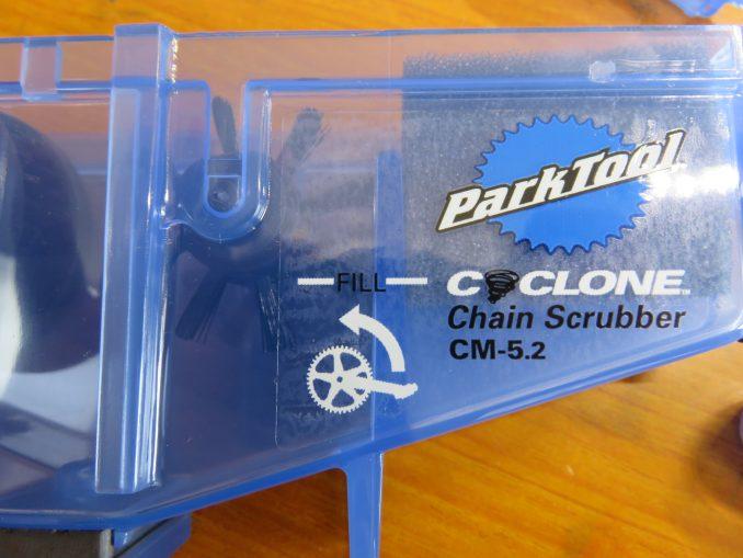 Park Tool CM5.2 サイクロン 洗浄液の目安のライン