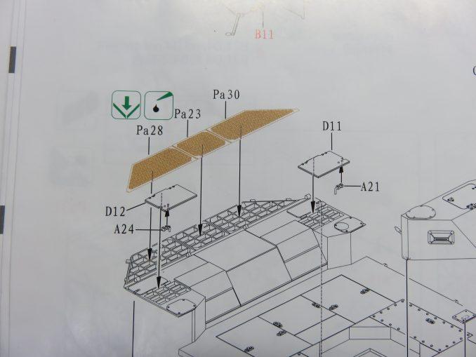 フラックワーゲン 説明図 エンジンデッキの組み立て