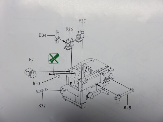 フラックワーゲン Flak41 砲尾の組み立て9
