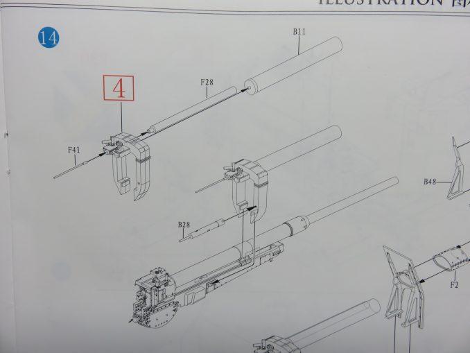 フラックワーゲン Flak41 復座機周辺の組み立て10