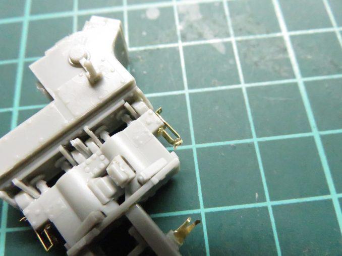 ラックワーゲン Flak41の信管設定装置の組み立て エッチングパーツの取り付け