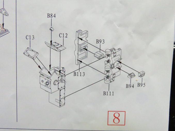 フラックワーゲン Flak41の信管設定装置の組み立て6