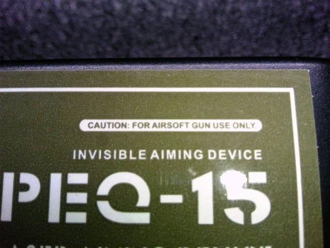 FMA PEQ-15 パッケージ エアガン用の表記