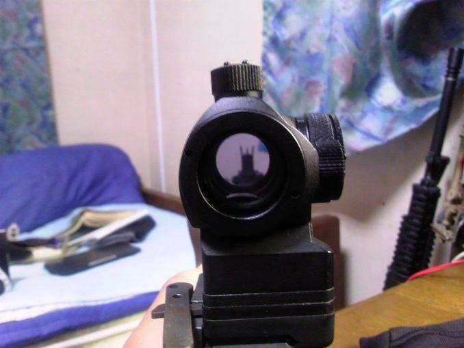 M4に載せたT-1を覗く